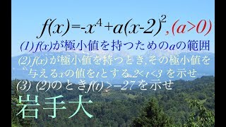岩手大 微分 高校数学 Mathematics Japanese university entrance exam
