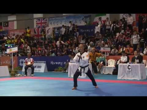Jansu Maestro Alberto Delgado. 8th WTF World Poomsae Taekwondo Championships (Indonesia)
