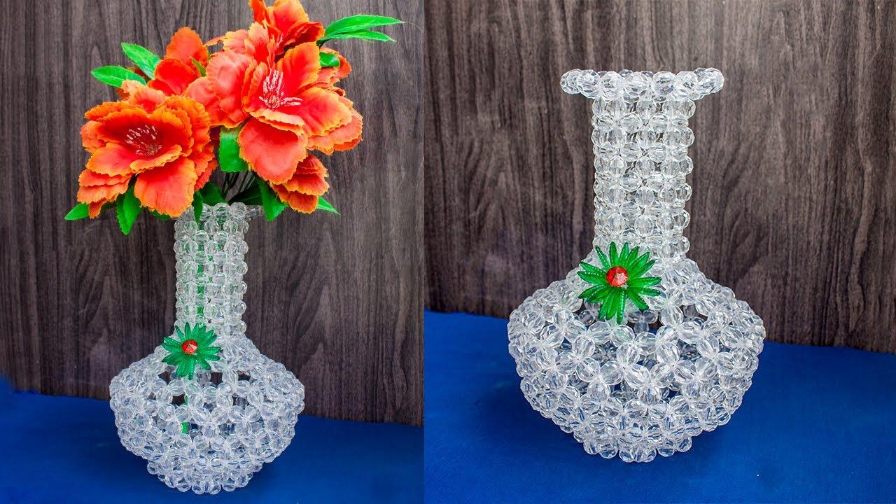 Download How To Make  Flower Vase at Home / Beaded Flower Vase / Flower Pot / Flower Stand / Fuldani /P-(2/2)