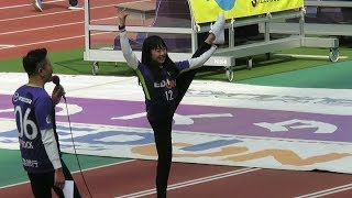 J1リーグ開幕戦でエディオンスタジアム広島にご来場された、勝利の女神...