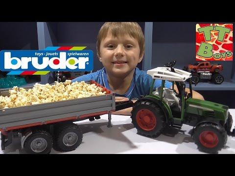 ✔ BRUDER Трактор с прицепом. Распаковка машинки от Игорька. Видео для детей / Cars for Boys ✔