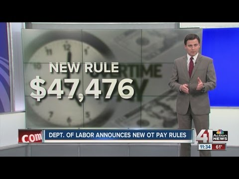 Department of Labor announces new overtime pay rules