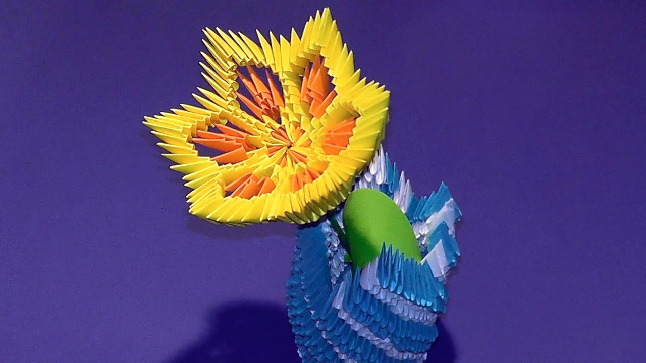 3d origami flower lily lotus tutorial youtube youtube premium mightylinksfo