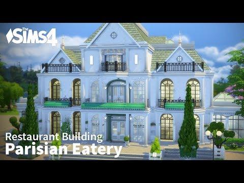 The Sims 4 Restaurant Building - Parisian Eatery