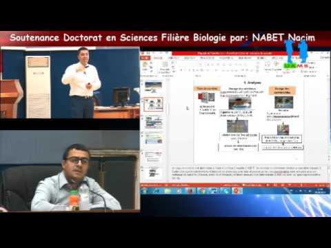 Débat autour de la Soutenance de doctorat en Sciences, par: NABET Nacim - part 01