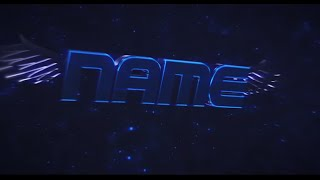 Free 3D Intro #36 | Blue Chrome Wings 3D Intro Template