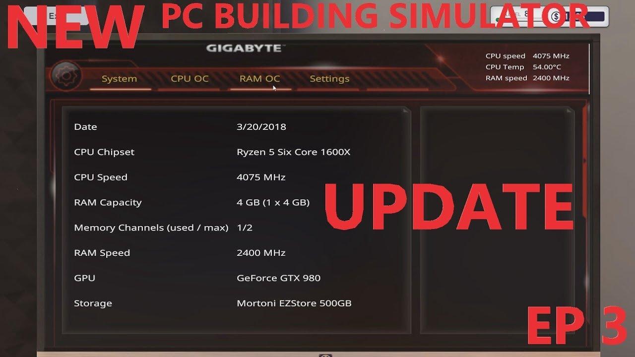 NEW OVERCLOCKING UPDATE | PC BUILDING SIMULATOR | EPISODE 3