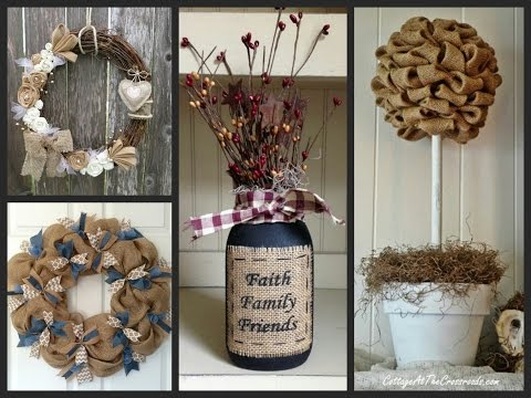 Burlap Crafts Ideas - Rustic Decor Ideas with Burlap