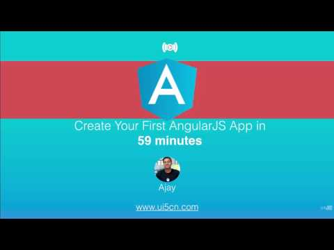 Create Your First AngularJS App With Me in 59 min From Scratch