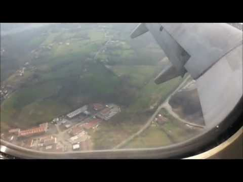Ryanair Flight landing in Biarritz airport