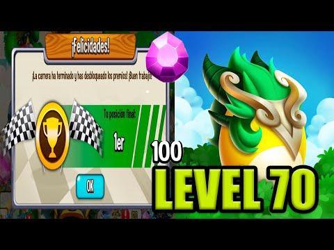 MI NUEVO NOBLE DRAGÓN VIRAGO NIVEL 70 !! Dragon City - 1er en la carrera heroica
