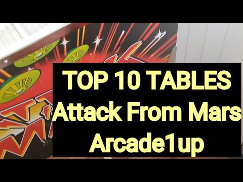 Top 10 Tables Attack from Mars Arcade1up from SimonAU1up