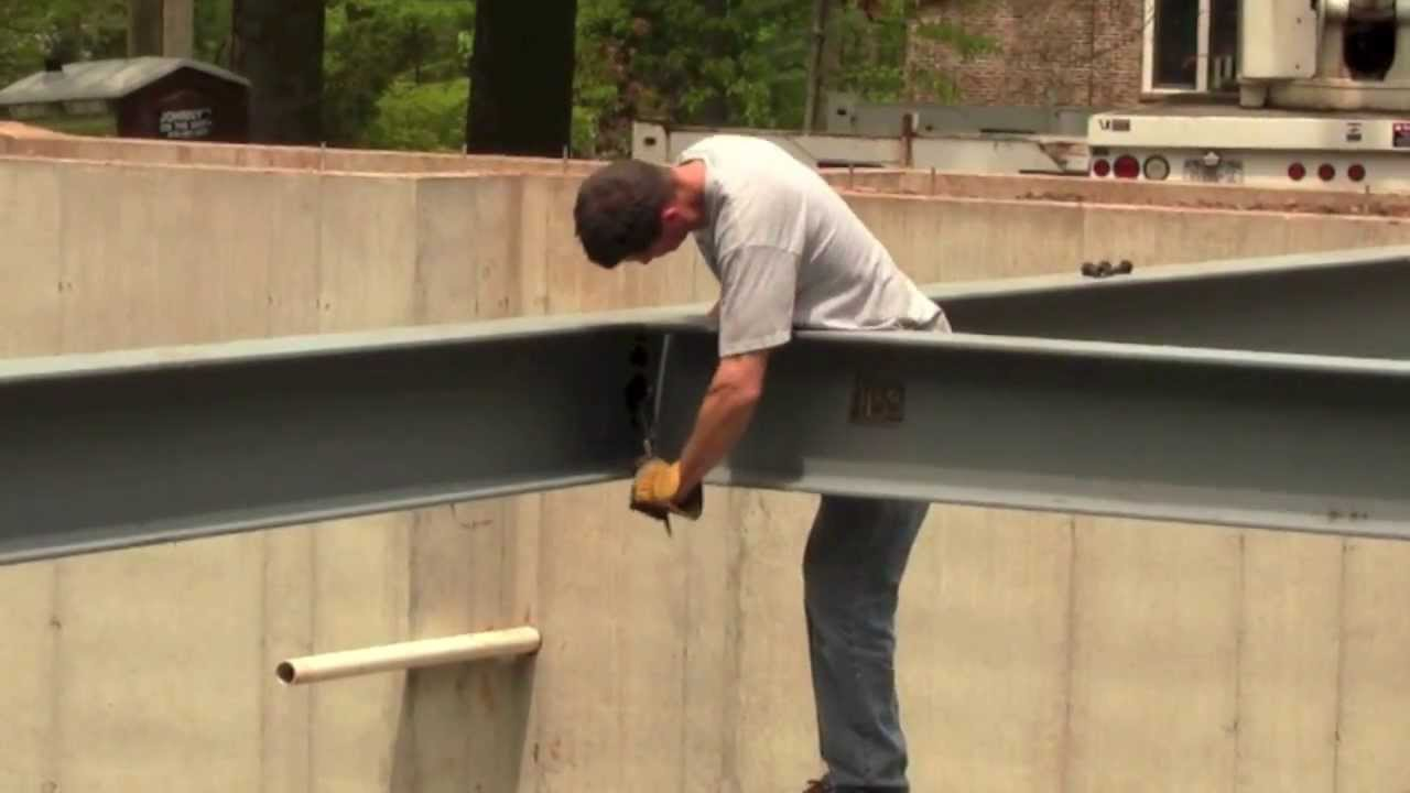 Building a house with steel beams