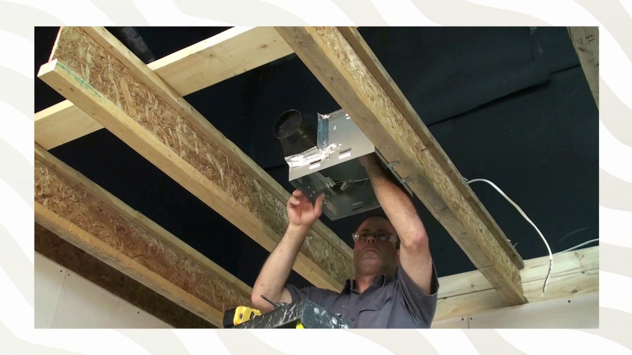Stelpro Bathroom Fan Installation Against Joist Or I Beam