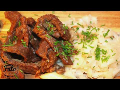 Rib Eye Marinated in Home Made Sauce & Noodles - FATO