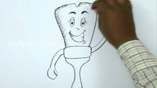 How to Draw a Cartoon Paint Brush