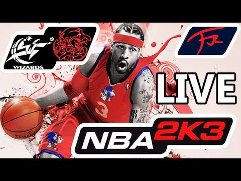 NBA 2K3 - Washington Wizards vs YouTube Hedgehogs (coached by FJOJR)