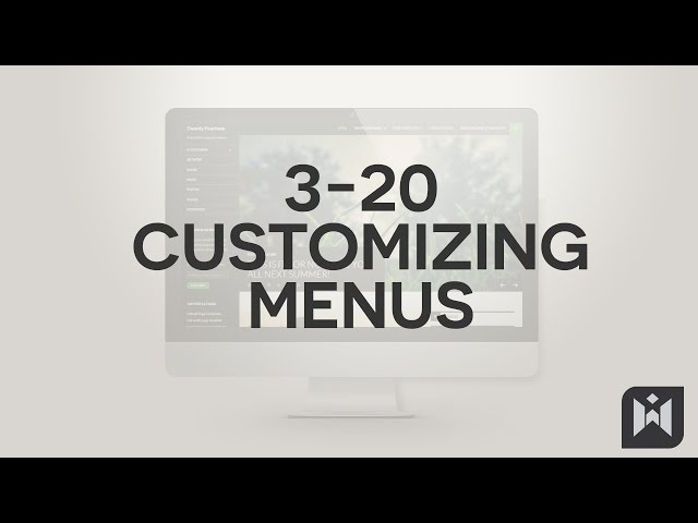 WordPress for Beginners 2015 Tutorial Series | Chapter 3-20: Customizing Menus