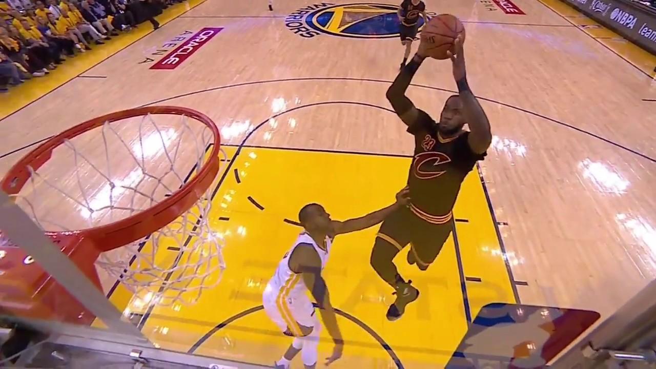 LeBron James Angry Slam Dunk on Iguodala (NBA Finals Game 2) - YouTube