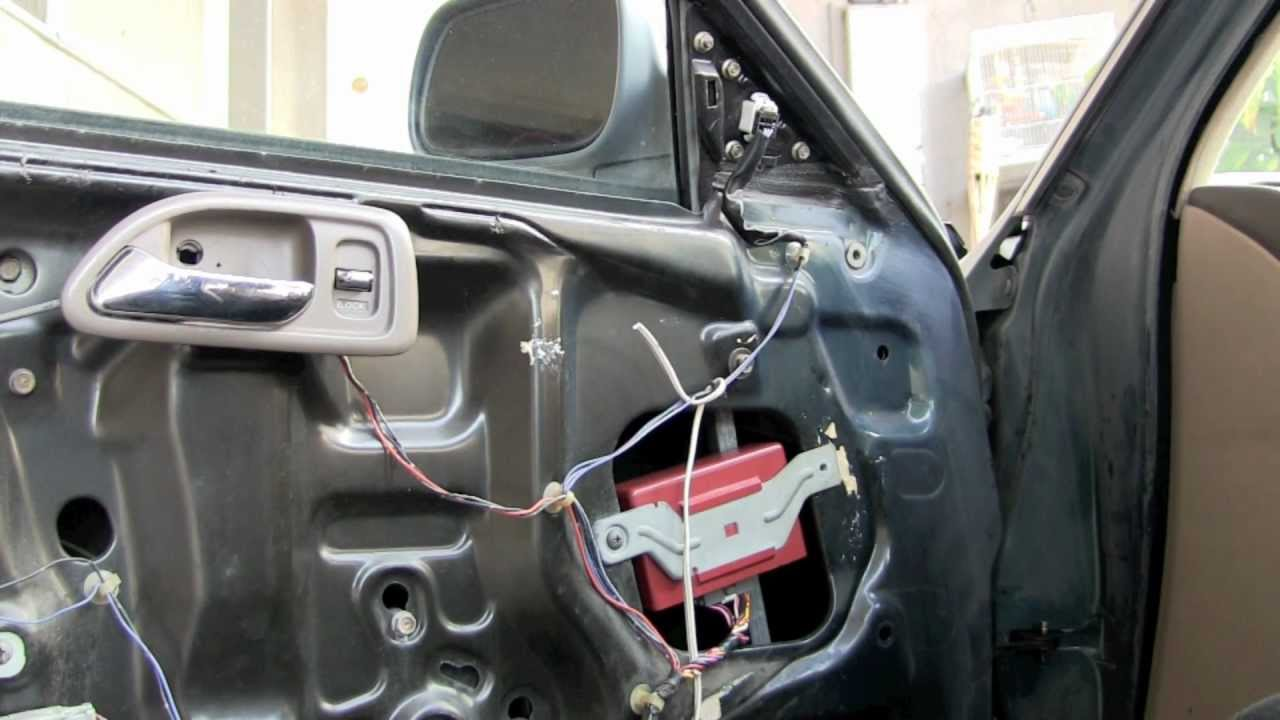 1994 Honda Accord door lock control unit fix - YouTube