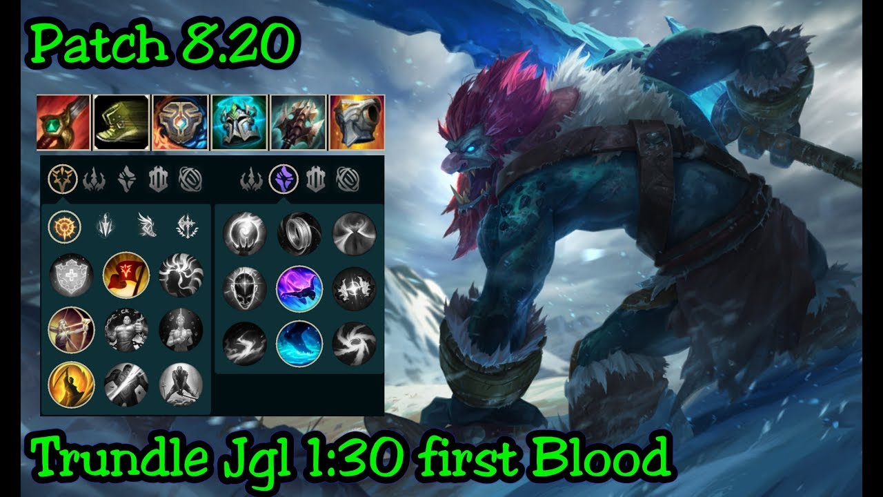 Trundle Jgl Ranked Season 8 Patch 820 League Of Legends Youtube