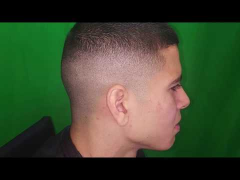 High and tight Bald fade