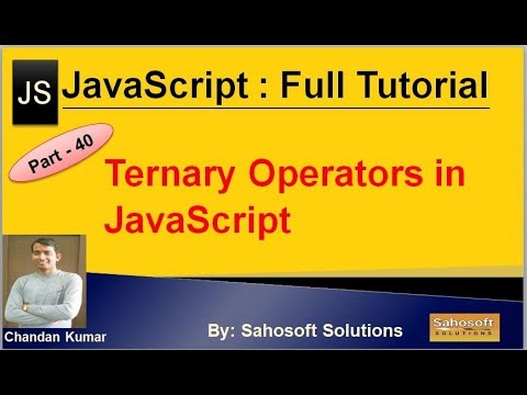 Ternary Operators in JavaScript  : Part - 40 : JavaScript Full Tutorial in Hindi thumbnail