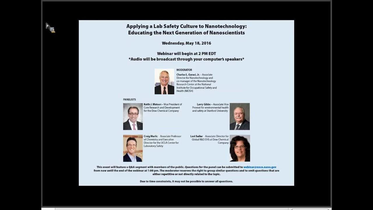 Applying a Lab Safety Culture to Nanotechnology: Educating the Next