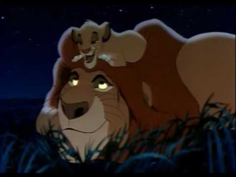 The Lion King Simba And Mufasa Scene