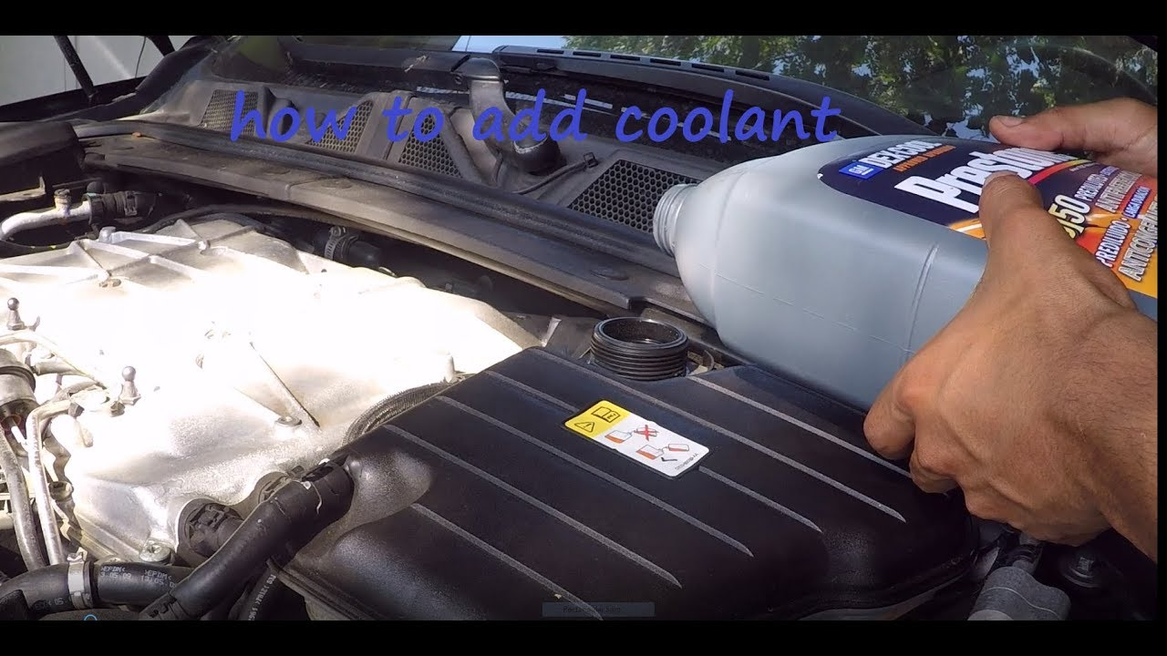 how to add or check coolant on a jaguar xf 5 0 youtube jaguar engine coolant  [ 1280 x 720 Pixel ]