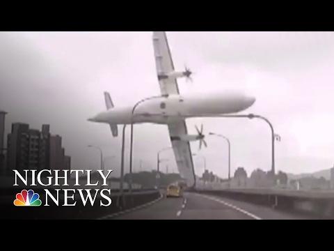 Taiwan Plane Crash Leaves 31 Dead | NBC Nightly News