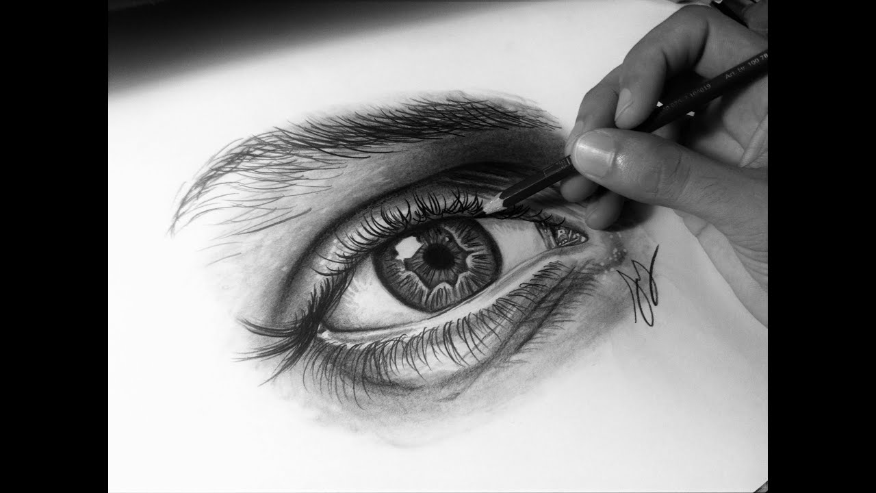how to draw a realistic eye with graphite pencils timelapse youtube