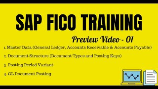 SAP FICO Video 01-Master Record (AR,AP,Bank),Document Structure,Posting Period Variant,GL Documents