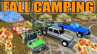 FARMING SIMULATOR 2017 | FĄLL CAMPING SPECIAL WITH OLE TRUCKS | MULTIPLAYER