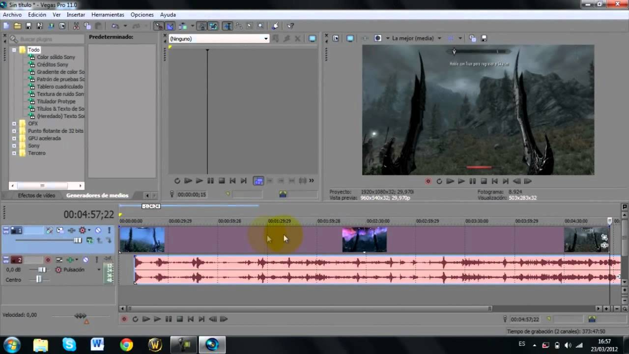 Tutorial Sony Vegas Pro 11 Separar El Audio Del Vídeo Youtube