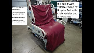 Hill Rom P1900 TotalCare Sport 1 Hospital Bed
