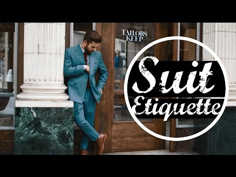 Suit Etiquette | Affordable Suits | Mens Fashion | TheGentlemansCove