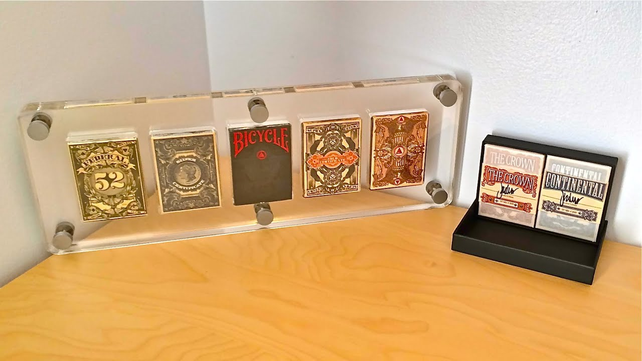 Playing Card Display Case Clear [LUCITE]   YouTube