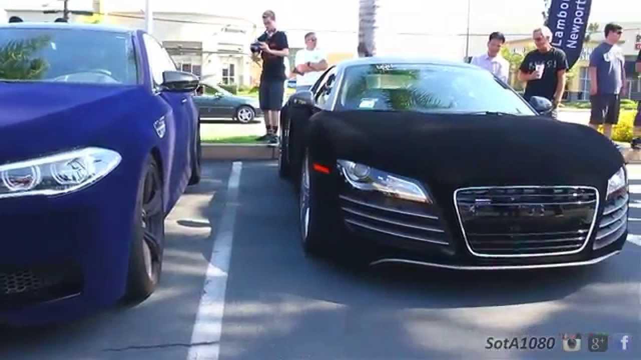 Velvet Wrapped Audi R8 At Super Car Event Youtube