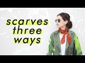 Three (more) ways to wear vintage scarves