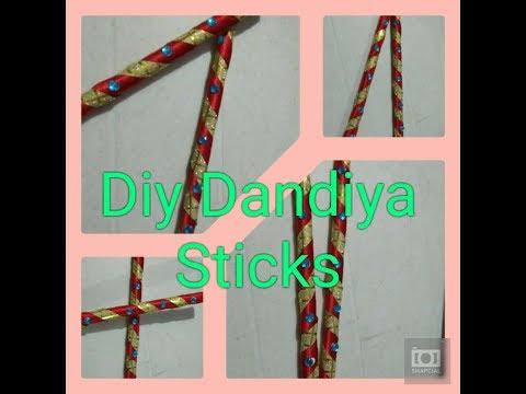 Dandiya Sticks // How to make Dandiya Sticks using News paper // Diy Dandiya Sticks
