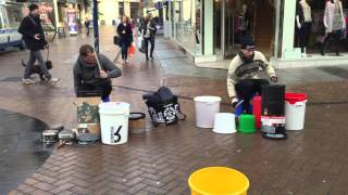 amazing street drummer 2015 one of the best i ve seen