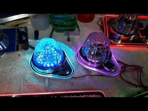 KW Tear Drop And Custom Bunk Lights
