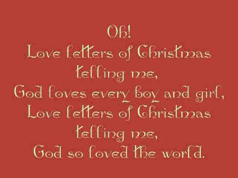 love letters of christmas - youtube