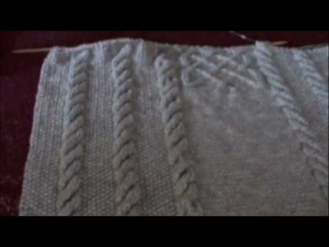 Cable Blanket With Celtic Knot Youtube