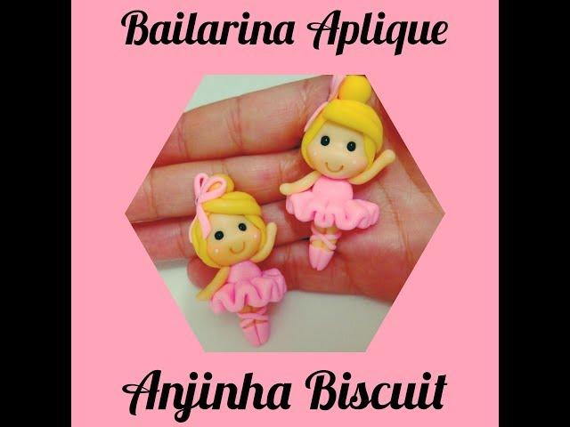 Diy- Bailarina Aplique para la癟os em Biscuit?