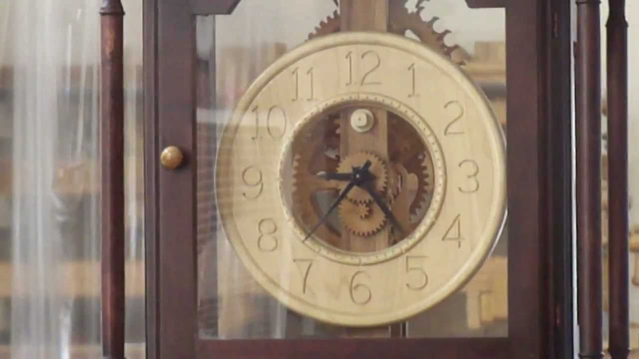 wood gear grandfather clock