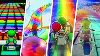 Evolution of Rainbow Road (1992 - 2018)