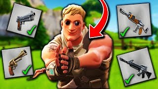 FORTNITE Grey WEAPONS Only CHALLENGE by a DEFAULT SKIN !! Fortnite: Battle Royale Funny Moments #3
