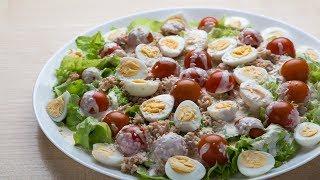 Легкий праздничный салат за 5 минут. Все в восторге